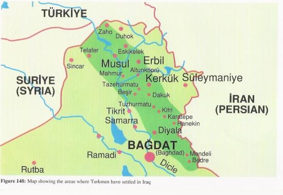 Map of Turkmenli