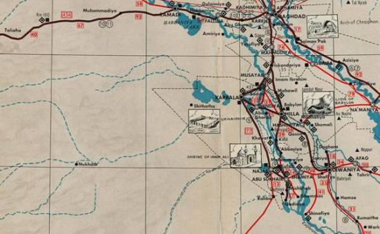 Map of Western Iraq late 1960  Reidar Visser