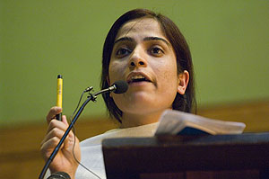 Malalai Joya meeting at Conway Hall. 23-7-09