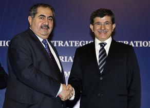 Ahmet Davutoglu and Hoshyar Zebari