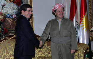 barzani and Davutoglu