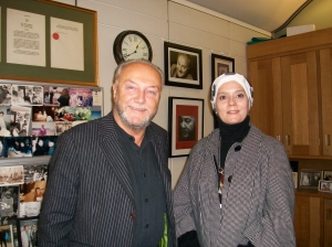 Mr  Galloway and Sündüs Abbas
