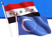 Iraqi and Turkmen flags