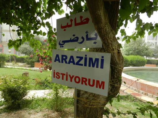 We want our land Arazimi istiyorum