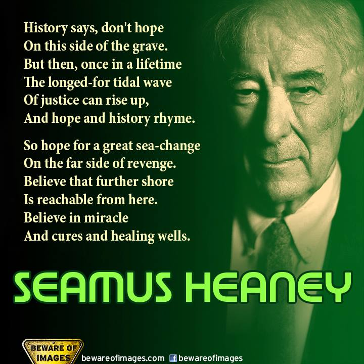 the effect of imagery on seamus heaneys poetry Scaffolding heaney uses a parable-style format that sets out the crucial need for a sound structure in human relationships the tone is a touch sermon-like.