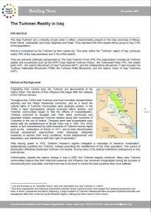 The Turkmen Reality in Iraq UNPO