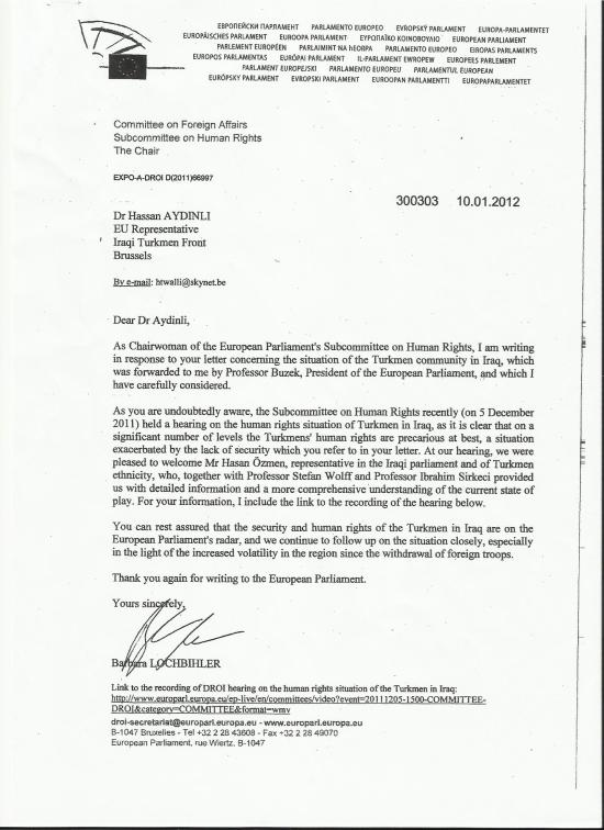Barbara Lochbiler letter jan 2012