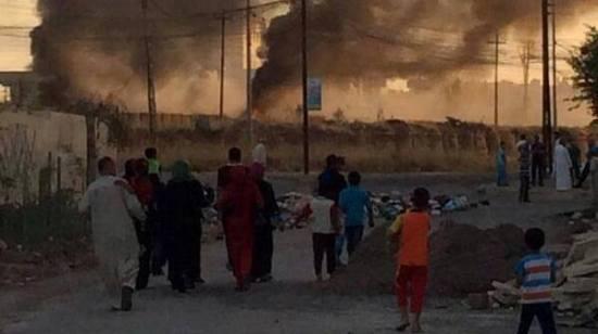 Turkmens fleeing from Telafer